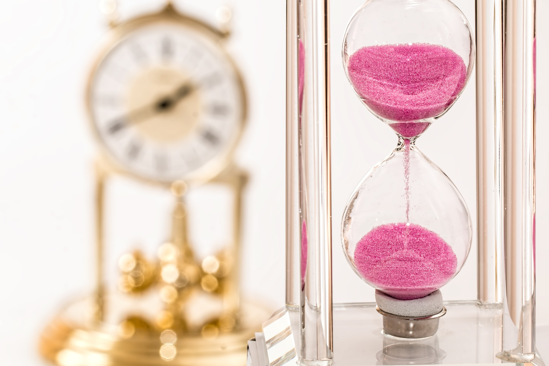 Time running hourglass
