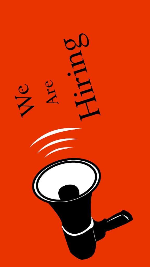 We're hiring - megaphone