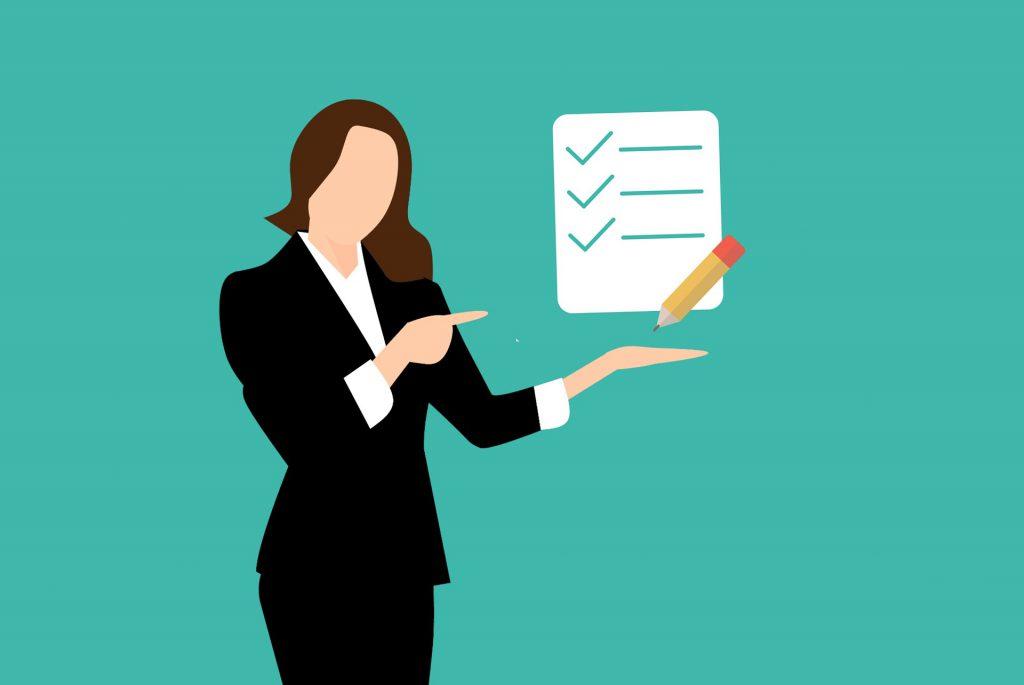 checklist lady
